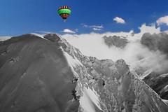 FRANCE - Alps - Les Trois-Évêchés (massif) (Jacques Rollet (Little Available)) Tags: mountain montagne alpes alps balloon neige snow cloud nuages ciel sky groupenuagesetciel