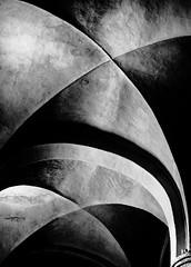 VaultCubism.jpg (Klaus Ressmann) Tags: omd em1 abstract fburgundy klausressmann romanicmonastery spring tournus abbey architecture blackandwhite contrast design flcabsoth minimal vault omdem1