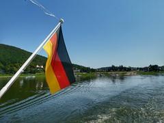 Edersee (sander_sloots) Tags: edersee flag german water ship boat hills flagpole dctz90 lumix panasonic vlag rondvaart meer lake germany vlaggenmast heuvels sauerland hessen