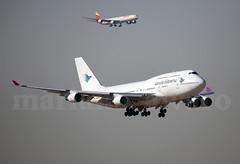 8 motores (Mariano Alvaro) Tags: madrid barajas avion aviones airbus a340 boeing 747 wamos iberia garuda