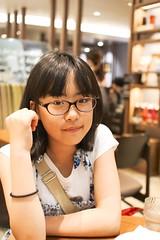 SAKURAKO. (MIKI Yoshihito. (#mikiyoshihito)) Tags: sakurako 櫻子 さくらこ 娘 daughter サクラコ 長女 10歳9ヶ月 eldestdaughter cafe