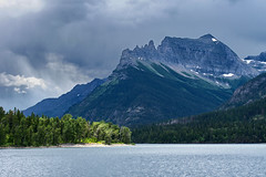 Moody Waterton (Rob McC) Tags: landscape trees woodland lake rockies montana alberta waterton moody water clouds