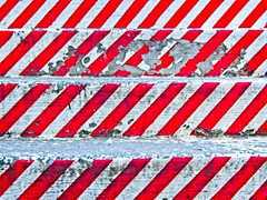 Those red lines again (Steve Brewer Photos) Tags: iceland reykjavik red redandwhite pattern zigzags zigzag step steps flightofsteps laugavegur colour color geometric geometrical repetition