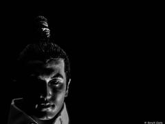 Hideyoshi (BenoitGEETS-Photography) Tags: phicen a6000 sony figurine toys 16 bn bw noiretblanc nb portrait japonais japanese