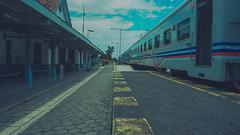 Train to the West (yanuarpotret) Tags: train transportation day holiday indonesia trainstation kai