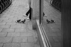 A quiet conversation going on... (ebenette) Tags: ebenette streetphotography london charingcross blackandwhite candid leica m10 summilux35mmasph