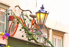 Knitted Bike (mandalaybus) Tags: riga latvia bike bikes bicycle bicycles light lights woolenbike