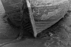 Mud.. (Julie Rutherford1 ( off/on )) Tags: fishing boat suffolk julie rutherford black white shed ropes canon eos 600d orford rope mud bow nautical