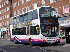 First Volvo B7TL (Wright Gemini) 32644 KP54 AZG (Alex S. Transport Photography) Tags: bus outdoor road vehicle first route16 volvob7tl wright gemini 32644 kp54azg