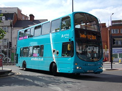 Arriva Volvo B9TL (Wright Gemini) 4200 FJ08 LVL (Alex S. Transport Photography) Tags: bus outdoor road vehicle arriva arrivatheshires arrivamidlands volvob9tl wright gemini route31a 4200 fj08lvl