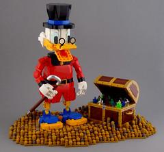 Uncle Scrooge (Swan Dutchman) Tags: lego uncle scrooge mcduck duck dagobert waltdisney disney disneyland figure character
