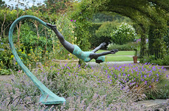 RHS Wisley 006_6567 (Mike Snell Photography) Tags: royalhorticulturalsociety rhs rhswisley wisley garden gardens flowers flora floral shrub plants nature environment conservation surrey england horticulture statue sculpture diver diving