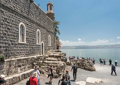 CHURCH of the PRIMACY of St PETER, SEA of GALILEE, ISRAEL_DSC_5341_LR_2.5 (Roger Perriss) Tags: churchoftheprimacyofstpeter seaofgalilee israel d750 sea galilee church chapel byzantine 1933 c3 jesus peter saintpeter shore beach steps