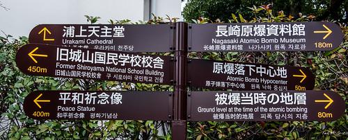 2019 - Japan - Nagasaki - Peace Park - Direction