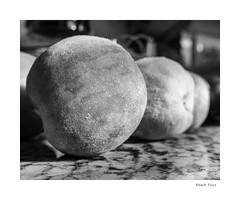 Peach Fuzz (agianelo) Tags: marble counter macro monochrome bw bn blackandwhite
