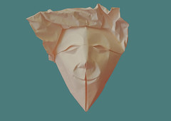 Mask 3 (ilja11) Tags: face mask paper papercraft origamimask fold head art design origami