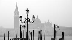 S.Giorgio in the mist (Blende1.8) Tags: mood moody mist misty fog foggy venice venezia venedig laterne sgiorgio chiesadisangiorgiomaggiore sangiorgiomaggiore church chiesa kirche canal italy italia europe oldeurope stimmung building
