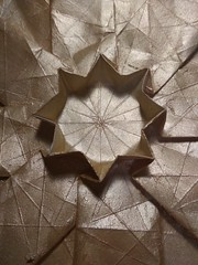 Octagonal star (ilja11) Tags: geometry tessellation gold silver octagon octagonal star origami papercraft light paper pattern