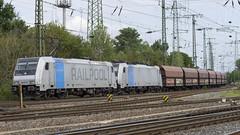 185 671-5 und 185 285-1 (Disktoaster) Tags: eisenbahn zug railway train db deutschebahn locomotive güterzug bahn pentaxk1