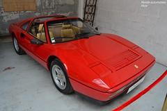 Ferrari 328 GTS (Monde-Auto Passion Photos) Tags: vehicule voiture auto automobile ferrari 328gts cabriolet convertible roadster sportive spider red rouge ancienne classique rare rareté vente enchère osenat france fontainebleau