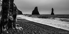 Rainy and windy day on Vik (Iceland) (christian.rey) Tags: reynisdrangar reynisfjara beach plage rocks rochers islande iceland vik paysage seascape sony alpha a7r2 a7rii 1635