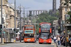Edinburgh Bus Wars (busmanscotland) Tags: dennis trident alexander alx400 bright bus tours first scotland east acz7494 acz 7494 227 sj16 csz sj16csz volvo b5tl wright eclipse gemini city sightseeing edinburgh x274nno x274 nno