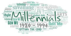 Millennials (Ben Taylor55) Tags: millennials gen y 1980 1994 streaming cutting cord echo boomers me we social media music arts technology fashion trends style internet great recession student debt tag tags tagcloud word words wordcloud