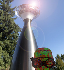"""""""Gone Fission"""" (ruthlesscrab) Tags: lamp reactor goggles atomium atomic werehere hereios wah"""