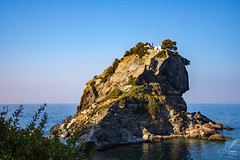 St. John's Chapel Lofty On The Clifftop (ioannis_papachristos) Tags: skopelos island stjohn'schapel stjohn kastri chapel iconic landmark lofty rock cliff clifftop sea aegean blue white seaside sky greece seascape building shrine temple architecture summer summertime color mammamia hollywoodfilmmakers canon mirrorless eosrp canoneosrp fullframe papachristos horizon water colour sapphire view vista stunning heavenly aweinspiring baptist church christian goldenhour afternoon photogenic