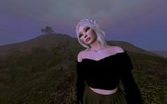 Siúil a Rún (Hazel Foxtrot) Tags: sl second life tree ruins stones sky clouds portrait sadness melancholy longing