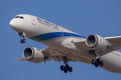 El Al B789, 4X-EDE, AMS-TLV, Landing on rwy 30 (LLBG Spotter) Tags: elal b787 4xede tlv aircraft airline llbg