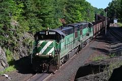 LS&I 3009 at Palmerline Jct (CN Southwell) Tags: lake superior ishpeming rr railroad u30c bn burlington northern
