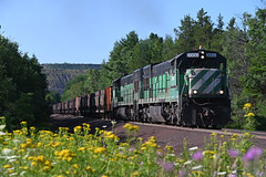 Summer amongst da yoopers. (CN Southwell) Tags: lsi lake superior ishpeming rr railroad michigan upper peninsula u30c bn burlington northern sce