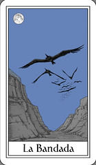 The Flock - La Bandada (Marcos Telias) Tags: cards tarot carta mazo deck strange tarocco cartastelias illustration ilustración dibujo arte artista artist art drawing mysterious chile chilean chileno marcos telias