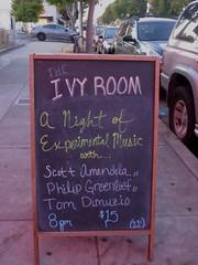 Ivy Room signboard (michaelz1) Tags: livemusic ivyroom albany experimentalmusic improvisation