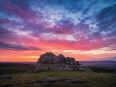 Haytor Sunrise (Timothy Gilbert) Tags: devon panasonic1232mmf3556 sunrise dartmoor gx8 m43 microfourthirds lumix microfournerds haytor lovedevon dartmoor365 panasonic rocks