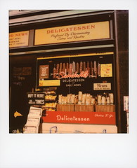 Sandahl's Delicatessen 1 (tobysx70) Tags: california ca news color film window bread polaroid sx70 la newspaper los boulevard display angeles it daily here originals rack hollywood pies buy deli instant to times sonar orders sandwiches blvd salami delicatessen sx70sonar toby set movie photography go dressing hancock quentin tarantino onceuponatimeinhollywood sandahls