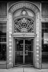 Sullivan Center _ Louis Sullivan _ Chicago _ 1899 _ Exterior Entrance BW (SteMurray) Tags: review chicago architecture america usa ste murray steie travel modern black white city skyline facade