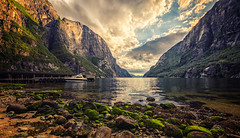 Lysebotn (bjorns_photography) Tags: fjord mountain ocean water shit rocks light clouds photography weather