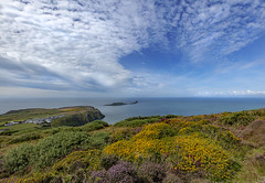 View from Rhossili Downs #3 - Explore 10.8.19 (Jo Evans1 - off and on for a while) Tags: rhossili downs gower worms head beautiful clouds rocks panoramic view