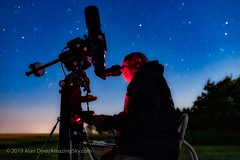 Selfie with the Astro-Physics Traveler in the Moonlight (Amazing Sky Photography) Tags: astrophysics moonlight nagler observing televue traveler home observer refractor selfie