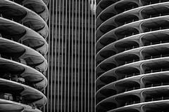 Marina City _ Bertrand Goldberg _ Chicago _ 1968 _ Facade BW (SteMurray) Tags: review chicago architecture america usa ste murray steie travel modern black white city skyline facade