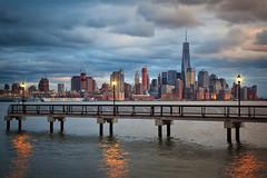 Manhattan from New Jersey (funtor) Tags: skyline city view urban skyscraper usa ny manhattan light color nyc twilight