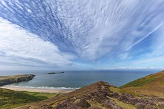 View from Rhossili Downs #2 - Explore 10.8.19 (Jo Evans1 - off and on for a while) Tags: rhossili downs gower worms head beautiful clouds rocks panoramic view