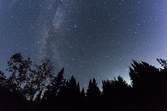 The Milky Way and a Meteor (Sam Wagner Photography) Tags: milky way night sky universe meteor long exposure galaxy astro astrophotography boundary waters canoe area wilderness bwca bwcaw northern minnesota dark forest silhouette