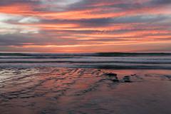 Pink Sunset (CloudRipR) Tags: moonlightbeach encinitas california clouds rock reflection pink sunset evening ocean beach sand sea waves surf nikon nikkor d810