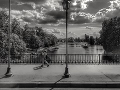 Walk with a view in the background (wojciechpolewski) Tags: blackwhite blanconegro blackandwhite photo photos street landscape city urban poland polska