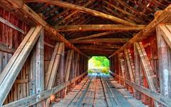 Grange City Covered Bridge - Hillsboro, Kentucky (oscarpetefan) Tags: oscarpetefan kentucky hillsboro travel coveredbridge tonemapped hdr filmsimulation kodakektachromee100g dxo11 photomatix on1pics on1photoraw olympus omdem5ii microfourthirds zuiko 1240mmf28 grangecitycoveredbridge