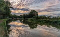 Grand Union Canal, Stoke Bruerne (jor5472) Tags: narrowboat visituk visitbritain colourful sky sunset greatbritain england outdoors nikon flickr water landscape grandunioncanal northamptonshire stokebruerne