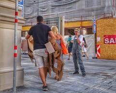 Vienna Wien - Street (Oliver Kuehne) Tags: wien vienna austria österreich street workinggirl overall dungarees sonydscrx100m2